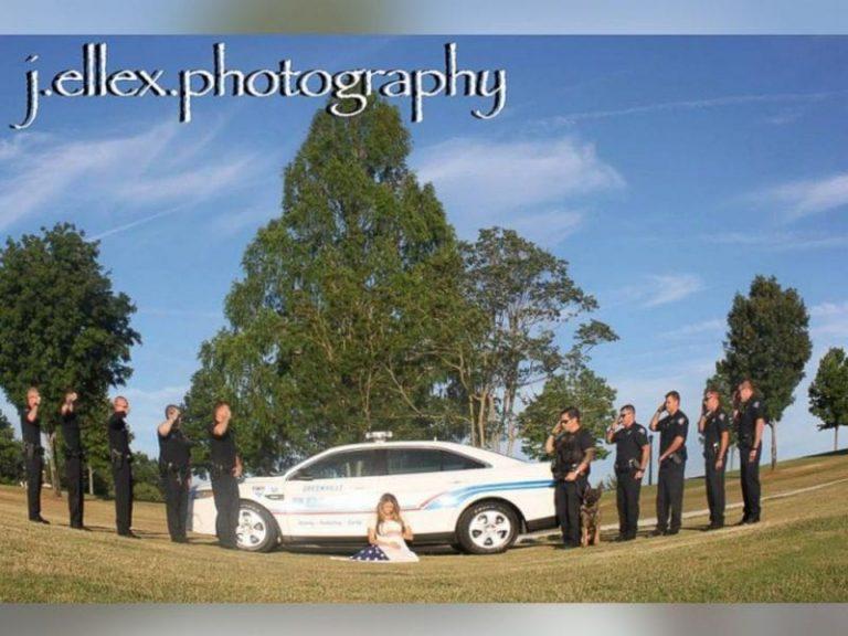 Беременная вдова офицера, погибшего на службе, сделала такую фотосессию будущей мамы